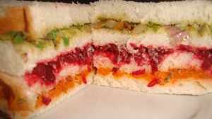 Triple layer sandwich